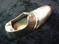 Курительница бронзовая Туфля