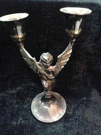 Подсвечник Ангел бронза